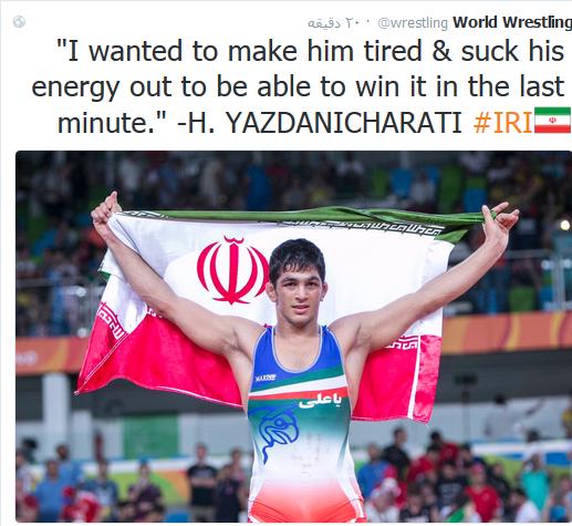 فیلم و تصاویر اهدای مدال حسن یزدانی در المپیک ریو 2016
